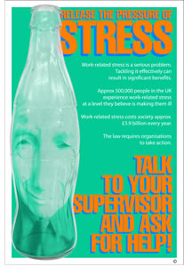 Release the pressure of stress talk to your supervisor encapsulated wall chart.