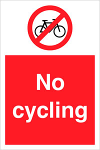 No cycling sign.