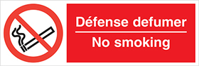 Defense defumer no smoking sign.