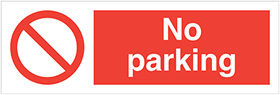 No parking sign.