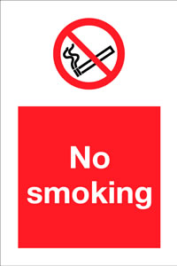 no smoking sign.