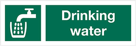 Drinking water sign.