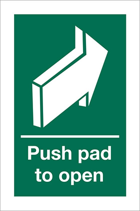 Push pad to open sign.