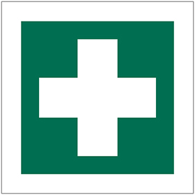 First aid cross sign.