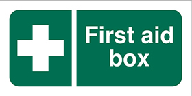 cross first aid box sign.