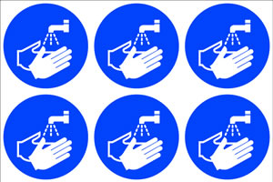 Wash you hand symbols sign.