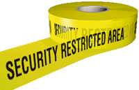 Security restricted area sign.