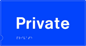 Private braille sign on white background. sign.