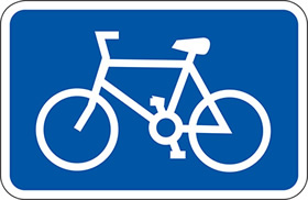 3 mm aluminium cycle symbol sign.