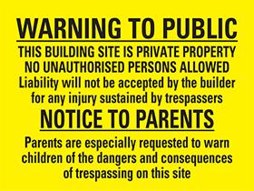 UK Safety Signs Image