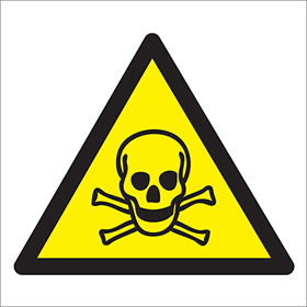 Toxic symbol skull  & cross bones sign.