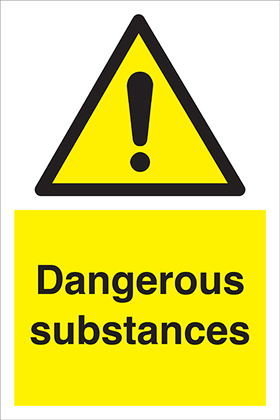 Dangerous Substances sign.