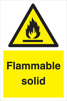 Flammable solid sign.