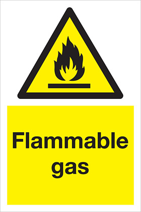 Flammable gas sign.