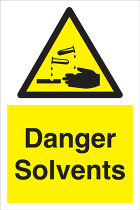 Danger Solvents sign.