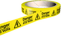 Danger 415 volts 100 labels.
