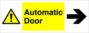 Automatic door arrow right sign.