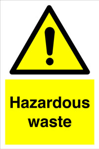 Hazardous waste sign.
