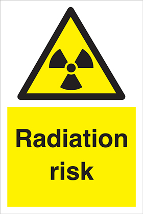 Radiation risk sign.