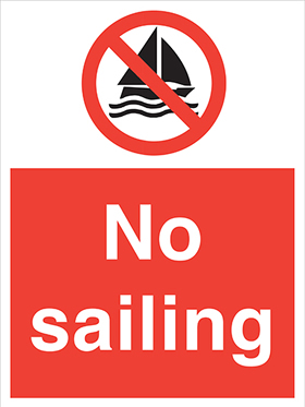 No sailing signs.