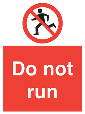 Do not run sign.