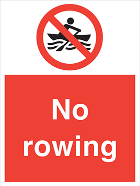 No rowing sign.