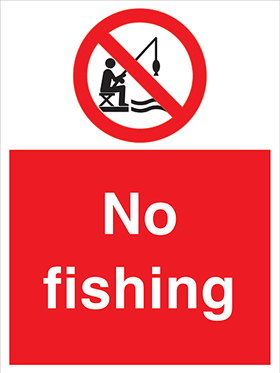 No fishing sign.
