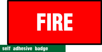 self adhesive fire badge 100x50mm sign.