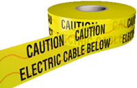 electric cable below detector tape 150mmx100m sign.