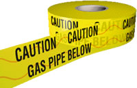 gas pipe below detector tape 150mmx100m sign.