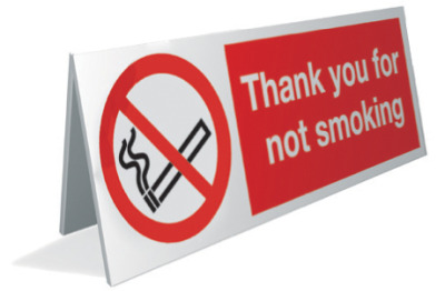 no smoking image with text thank you for not smoking sign.