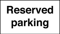 Reserved parking road traffic sign.