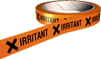 Irritant hazard tape.