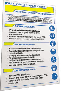 Personal protective equipment pocket guide.