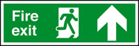 Fire exit - running man - arrow up sign.