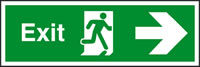 Exit running man - arrow right sign.