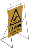Caution-slipery floor surface requires st4 or st1 frame sign.