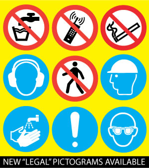 The new legal safety pictograms.