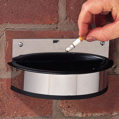 wall mounted cigarette ashtray bins with replacement insert. Prevent unsightly ash and cigarette butts around your premises. Manufactured from stainless steel~ these ash trays are easy to fix and come complete with a removable insert for easy emptying a sign