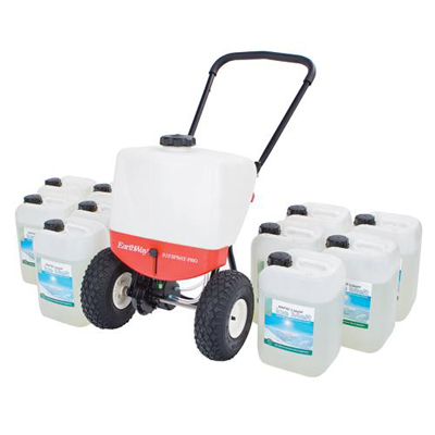 liquid ice melt kit pedestrian sprayer / 2 x 10 litre ice melt. Ensure maximum safety in icy conditions each kit contains a liquid ice melt sprayer and a choice of either 2 or 10 containers of 10 litre liquid ice melt.
