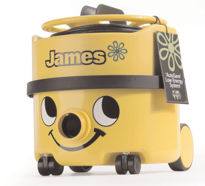 james vacuum cleaner floorcare machines. Brightly coloured~ energy efficient vacuum cleaner. This energy saving vacuum cleaner operates on an AutoSave low energy system~ making it economically proficient. For use in all carpeted and hard wood areas~ the sign