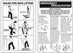120 x 80 mm rules for safe lifting pocket guide sign