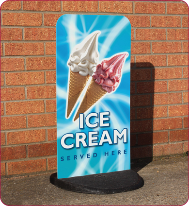 Ecoflexlite sign 410 x 763 mm with graphics sign