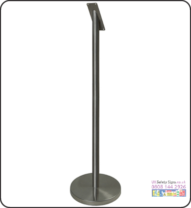Smokers pole freestanding 60 x 1000 mm sign