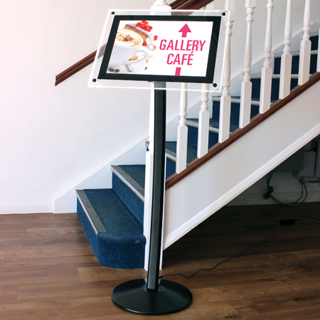 A3 hi-light menu stand black sign