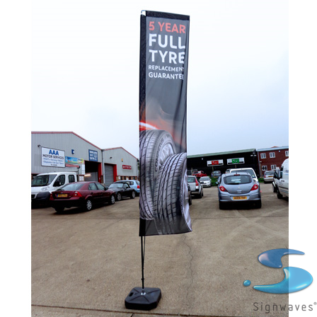 Flying Banner Small - 2.1m pole no graphic sign