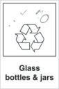 Glass Recycling Signs