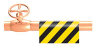 pipe id tape sign