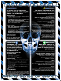 """Nose & throat protection poster """"making sense of safety"""" series of posters"" sign."