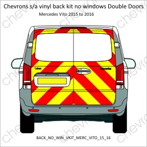 Mercedes Vito Double Doors 2015 to 2016 Low Roof